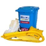 CHEMMAXX® Chemical-hazmat Mobile Spill Kit 95 gallon Capacity (1/wheeled contianer)