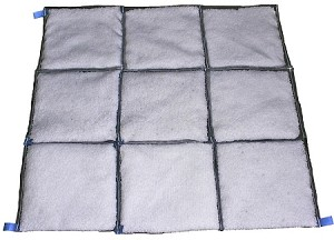 RUBBERIZER® by ClearTec™ 3'x3' Quilted Mat (BULK 5/box)